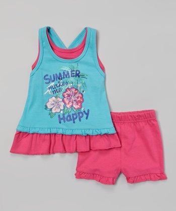 Weeplay Kids Capri 'Summer' Layered Tank & Shorts - Infant & Toddler