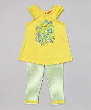 Weeplay Kids Aspen Gold Cap-Sleeve Tunic & Leggings - Infant, Toddler & Girls