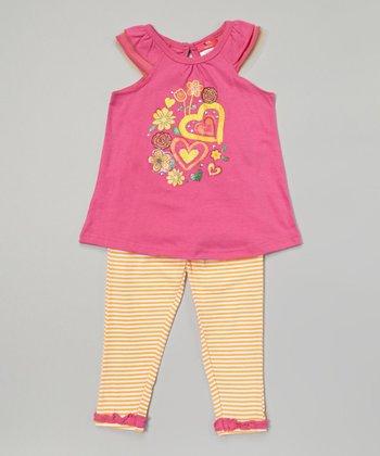 Weeplay Kids Rose Cap-Sleeve Tunic & Leggings - Infant, Toddler & Girls