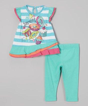Weeplay Kids Capri Stripe 'Sweet' Tunic & Leggings - Infant & Toddler