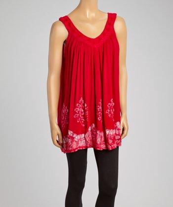Fuchsia Embroidered Shift Tunic - Women
