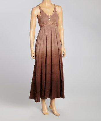 Chocolate Crochet Sleeveless Dress - Women