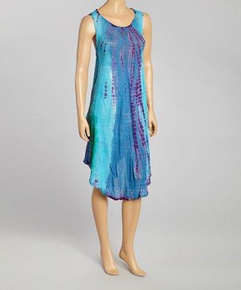 Blue Tie-Dye Momo Dress - Women