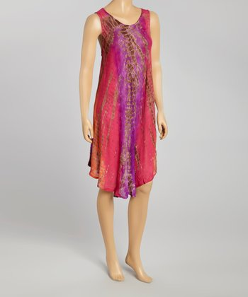 Pink Tie-Dye Momo Dress - Women
