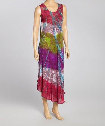 Pink Tie-Dye Abstract Momo Dress - Women