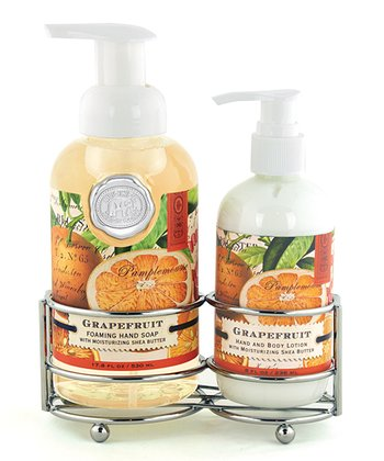 Grapefruit Soap & Lotion Caddy Set
