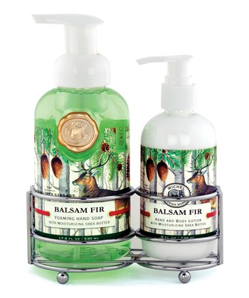 Michel Design Works Balsam Fir Soap & Lotion Caddy Set