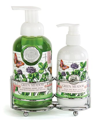 Green Meadow Soap & Lotion Caddy Set