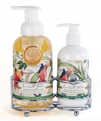 Enchanted Garden Soap & Lotion Caddy Set