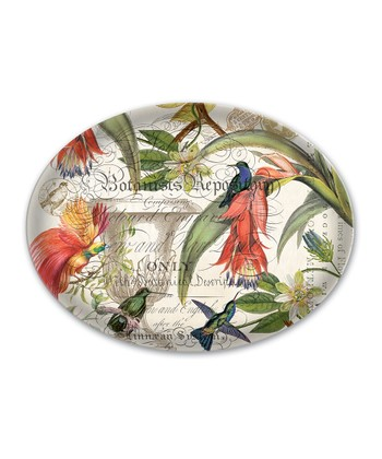 Enchanted Garden Oval Soap Dish