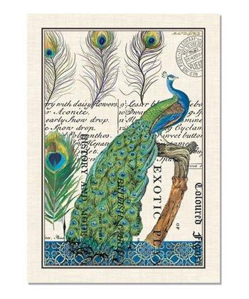 Peacock Kitchen Towel - Set of Three