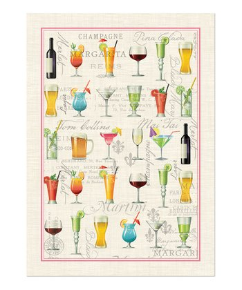 Cocktail Hour Towel - Set of Three