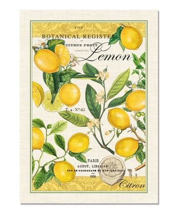 Lemon Basil Towel - Set of Three