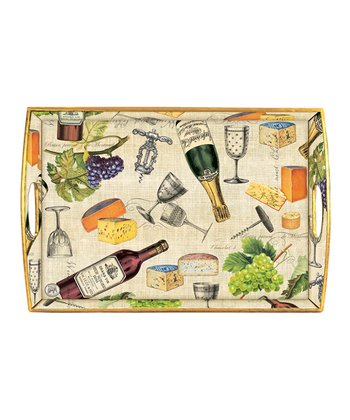 Wine & Cheese Wooden Tray