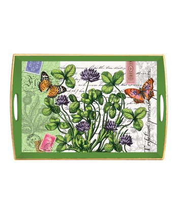 Green Meadow Handled Tray