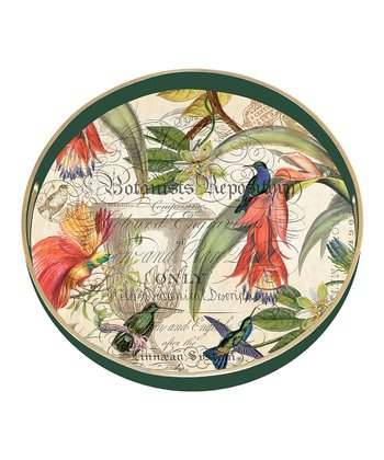 Enchanted Garden Round Tray