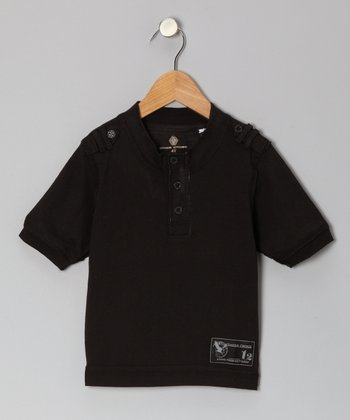 Black Henley - Toddler & Boys
