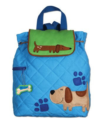 Blue Dog Quilted Backpack