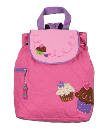 Pink Cupcake Quilted Backpack