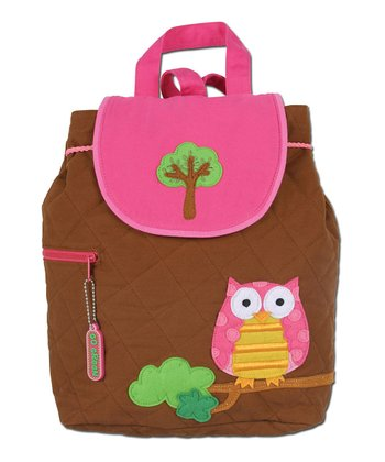 Brown Owl Quilted Backpack