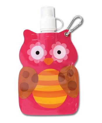 Pink Owl Little Squirt Water Bottle