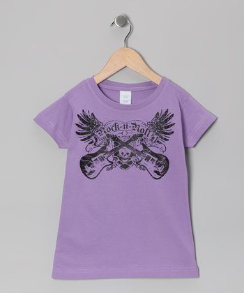 Lavender 'Rock-n-Roll' Tee - Toddler & Girls
