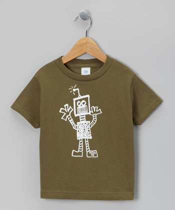 Military Green Robot Tee - Infant, Toddler & Boys