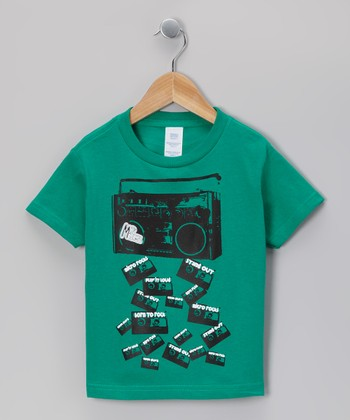 Kelly Green Boom Box Falling Tee - Infant, Toddler & Boys