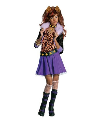 Purple & Black Clawdeen Wolf Dress-Up Outfit