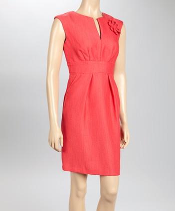 Sandra Darren Rose Sleeveless Dress