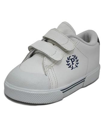 Peaks White & Navy Ace-V Leather Sneaker