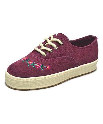 Peaks Burgundy Jeannie Suede Sneaker