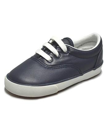Peaks Navy Smoothie Full Grain Leather Sneaker