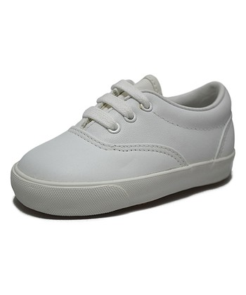 Peaks White Smoothie Grain Leather Sneaker