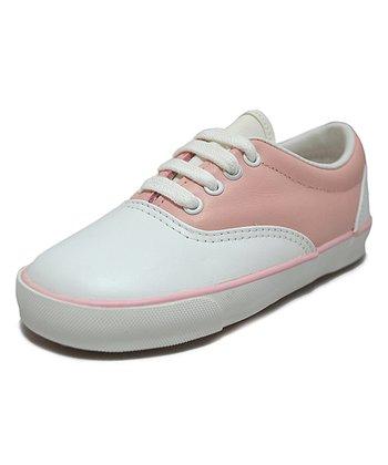 Peaks White & Pink Leather Saddle Shoe