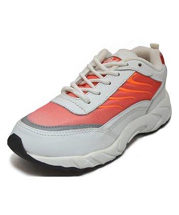 Peaks Orange & White Lazar-T Running Shoe