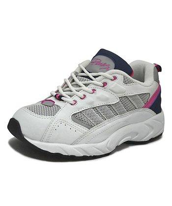 Peaks White & Fuchsia Racer-T Running Shoe