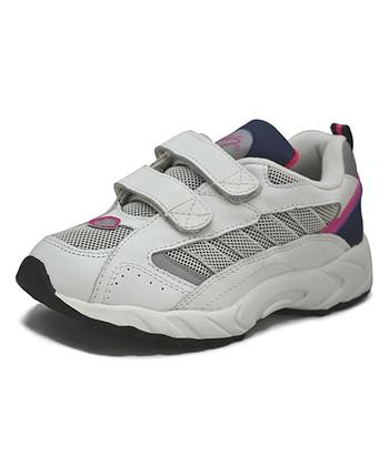 Peaks White & Fuchsia Racer-V Running Shoe