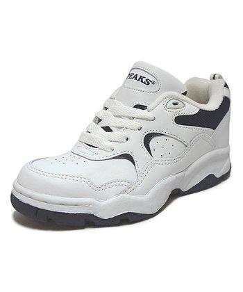 Peaks White & Navy Meteor-T Running Shoe
