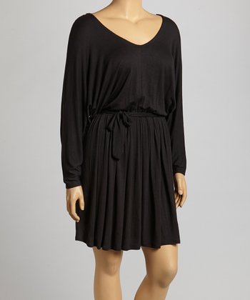 Black Dolman Dress - Plus