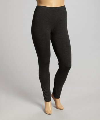 Dark Gray Leggings - Plus