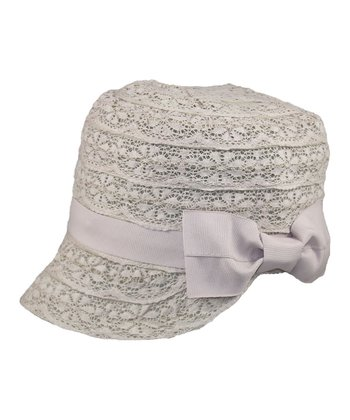 Light Pink Lace Bow Cap