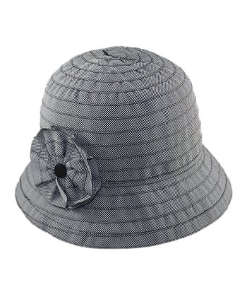 Black Rosette Bucket Hat