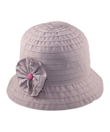 Pink Rosette Bucket Hat