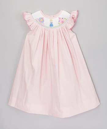 Pink Princess Castle Smocked Dress - Infant & Toddler