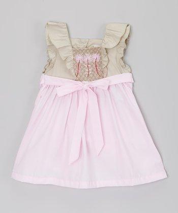Pink Flower Smocked Dress - Infant