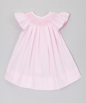 Pink Pearl Angel Wing Smocked Dress - Infant & Toddler