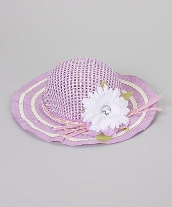 Lavender Flower Woven Sunhat