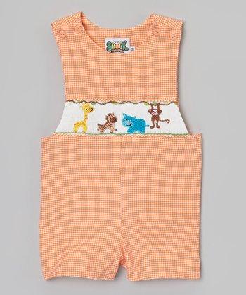Orange Zoo Smocked John Johns - Infant & Toddler