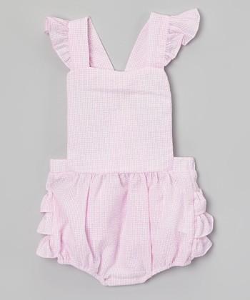Pink Ruffle Seersucker Bubble Romper - Infant & Toddler